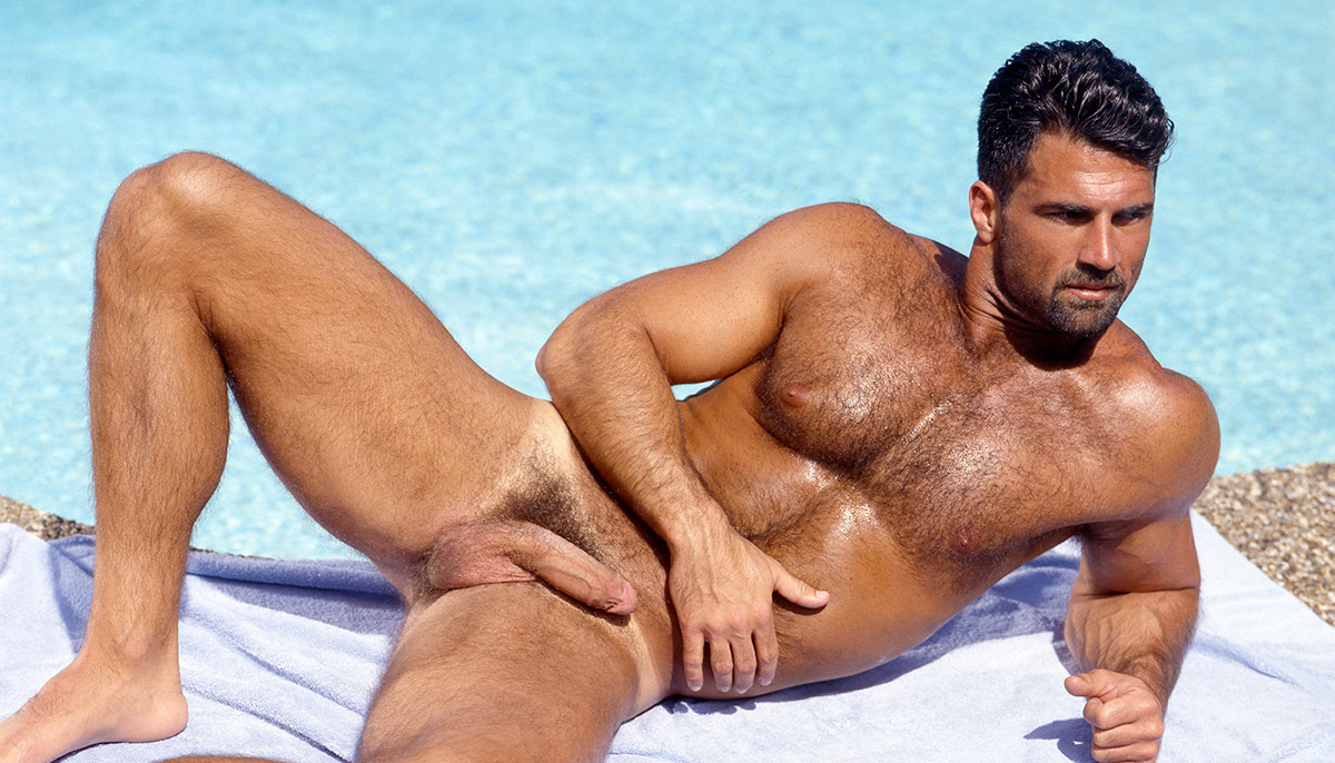 Anthony Page naked for gay porn studio COLT.