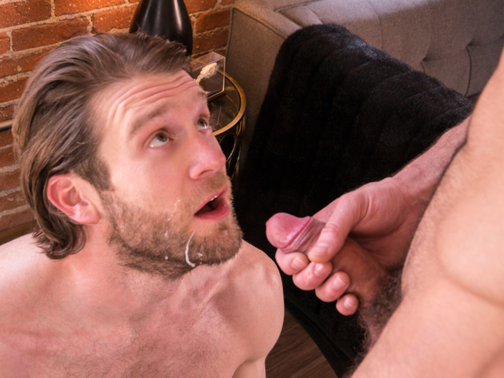 Colby Keller bottoms for Jarec Wentworth in a scene for gay porn site Randy Blue.