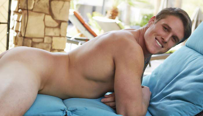 Curtis in a solo for gay porn site Corbin Fisher.