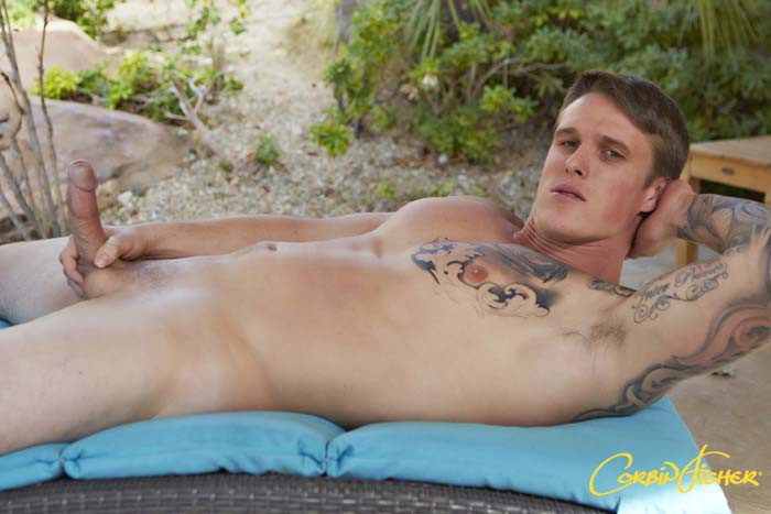 Curtis in a solo for gay porn site Corbin Fisher