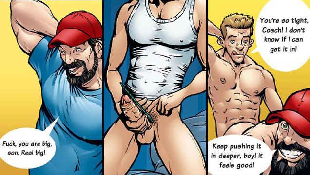 Gay big cock comics