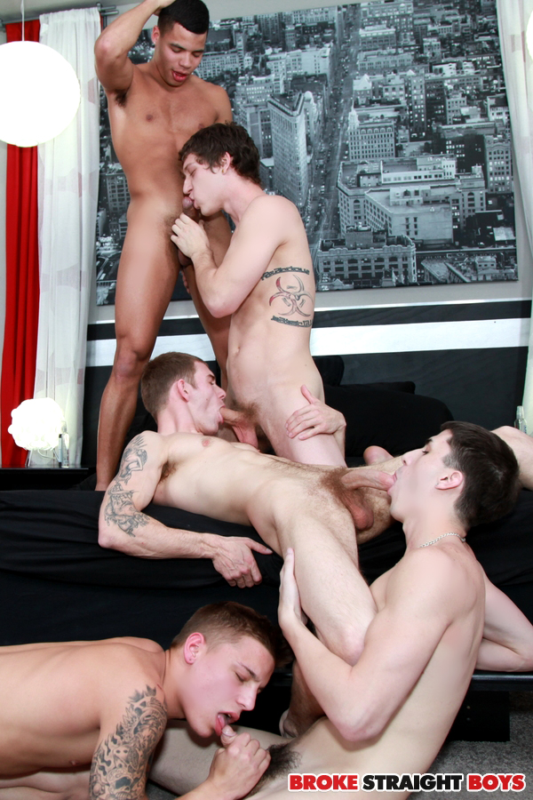 Broke Straight Boys 1000th scene bareback orgy