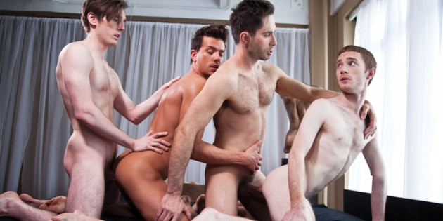 "Four Play: In Which We Copy & Paste A Press Release About Michael Lucas' ""Incredible"" Bareback Orgy…"