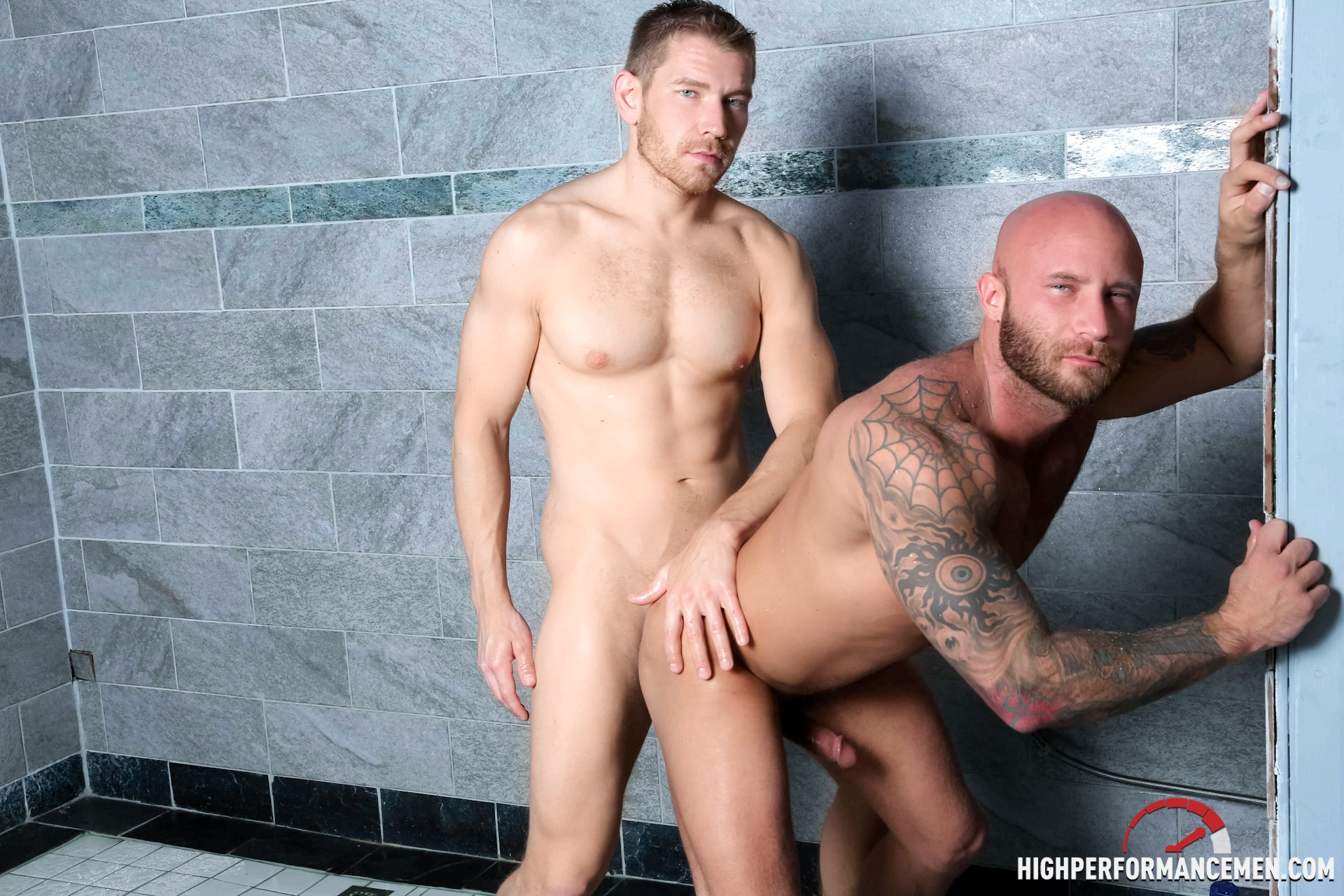 Drake Jaden bottoms for Alex Adams on gay porn site High Performance Men