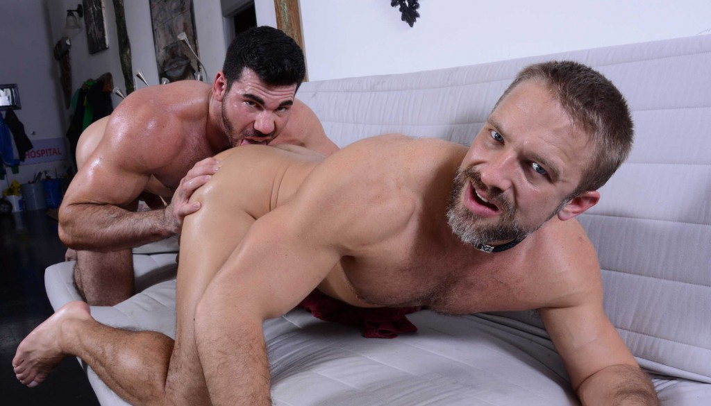 Dirk Caber and Billy Santoro flip-fuck on gay porn site Drill My Hole 0