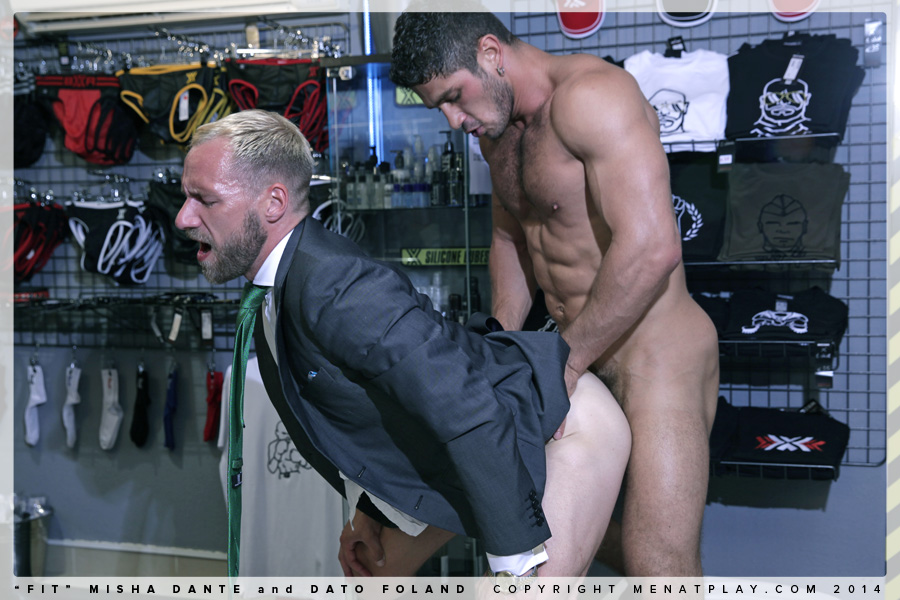 Misha Dante bottoms for Dato Foland on gay porn site Men At Play.