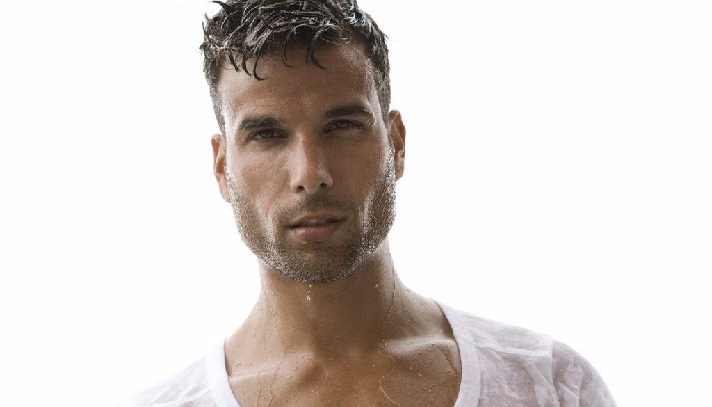 James Guardino poses in his underwear for a photo shoot with Rick Day.