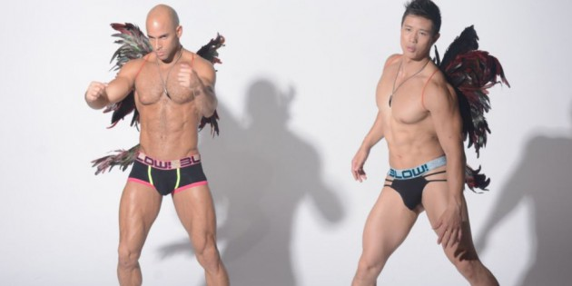 Sean Zevran, Ryan Rose & Peter Le Are Sexy Dancing Angels That Glow In The Dark