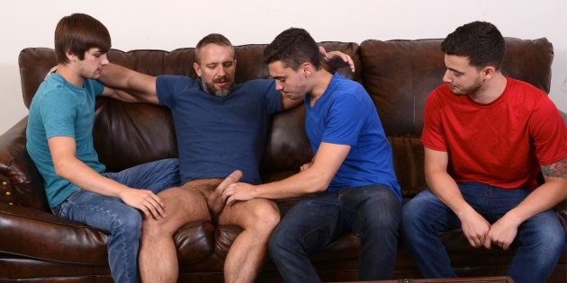 "Four Play: Dirk Caber's Triple-Penetration In ""Stepfather's Secret"""