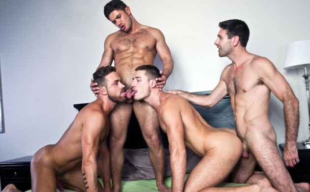 Four Play: Logan Moore, Dato Foland, Craig Daniel & Theo Ford's Bareback Orgy