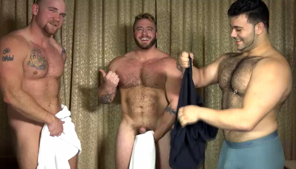 Aaron Bruiser and Marcelo pop straight guy Junior's cherry in an amateur gay porn scene for The Guy Site 0