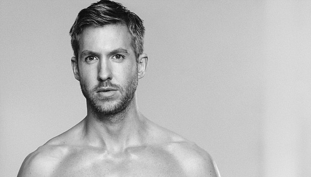 Calvin Harris shirtless showing off his big penis bulge in an underwear campaign for Emporio Armani 0
