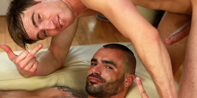 Two Gay Porn Stars, Kayden Gray and Cum-Soaked Issac Jones on The Set of UK Naked Men