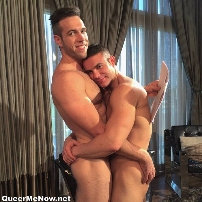 Alex Mecum Killian James Gay Porn Star BTS 1