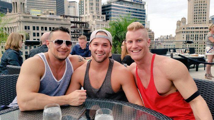 JoeyD Luke Adams JohnnyV Gay Porn Stars Threesome 1