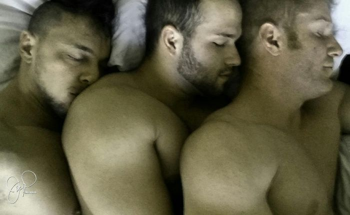 JoeyD Luke Adams JohnnyV Gay Porn Stars Threesome 3