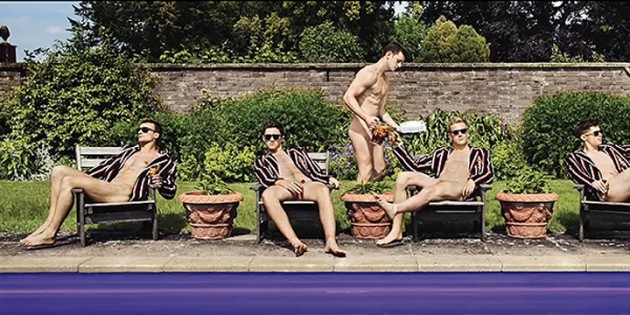 Naked Boys Rowing