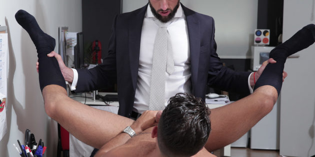 Men At Play: Massimo Piano Tricks Robbie Rojo Out Of His Clothes